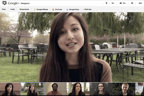 Organizing a Google+ hangout