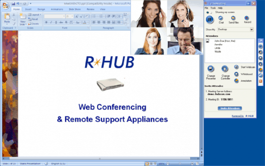 Example of a web meeting with RHUB
